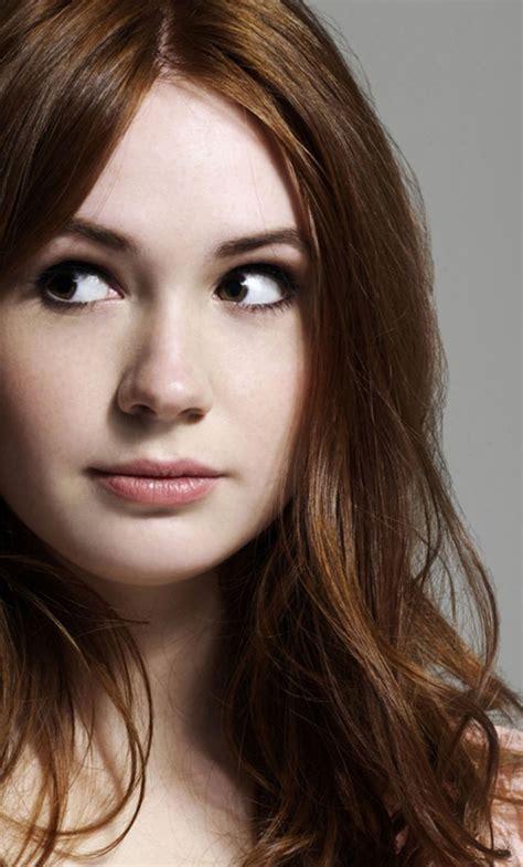 karen gillan actress face full hd wallpaper