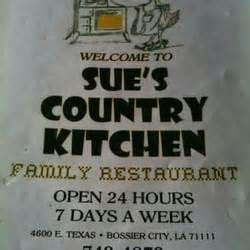 country kitchen bossier city sue s country kitchen family restaurant diners bossier 5996