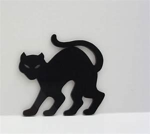 Halloween Decoration Black Cat Ornament Stencil Hand Cut
