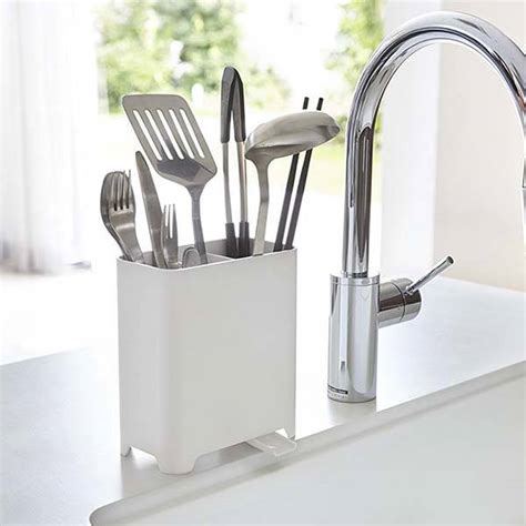 yamazaki kitchen utensil holder  adjustable sink drain
