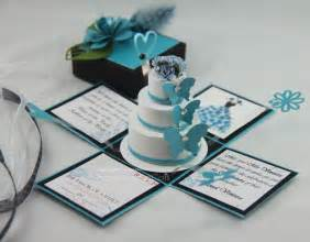 beautiful wedding invitations jinky 39 s crafts designs turquoise blue and black