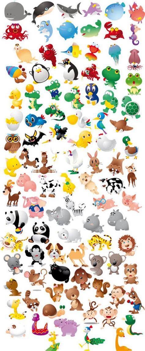 animal icon set funny cartoon graphics