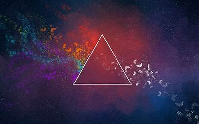 Moon Floyd Pink Abstract Triangle Dark Side