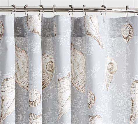 shower curtains summer seashell shower curtain pottery barn Seashell