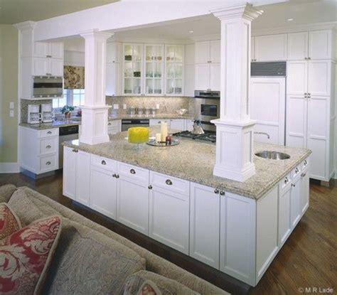 kitchen islands with posts kitchen island with columns artisan woods kitchens