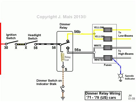 Simple Headlight Relay Wiring by Ford L9000 Headlight Switch
