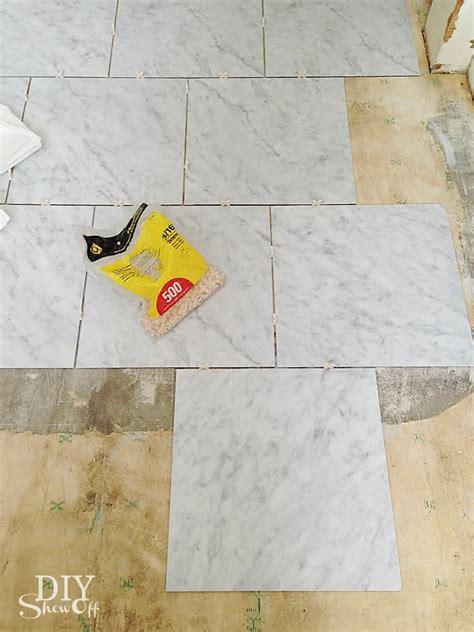 diy grouted vinyl floor tiles diy show diy