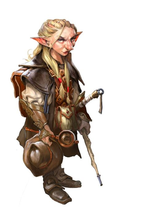 gnome dnd halfling female characters dungeons dragons character pathfinder fantasy cleric sword male warlock rpg fighter portraits concept rapier muddycolors