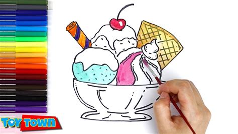 draw ice cream color ice cream drawing  kids