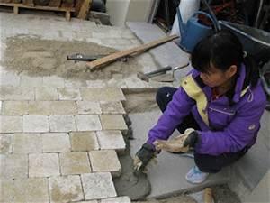 Pose De Pavé Sur Mortier : je fais construire ma maison poser des pav s 1 3 ~ Dode.kayakingforconservation.com Idées de Décoration