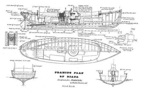steam launch diana steam boats wood boat plans boat
