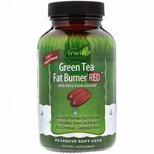 Irwin Naturals  Green Tea Fat Burner Red  75 Liquid Soft-gels