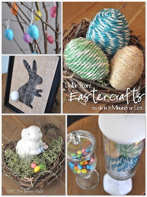 minutes    dollar store easter decor ideas