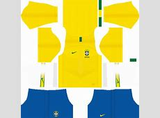 Brazil 2018 World Cup Kits and Logo URL Dream League
