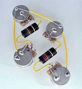 Les Paul  U00ae Type Wiring Harness By Jel 500k Cts Long Shaft