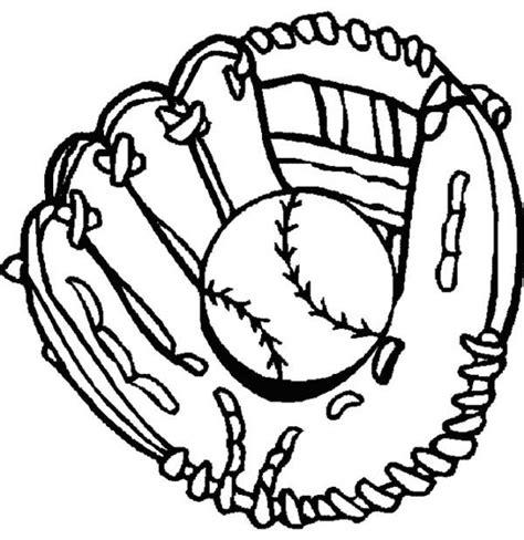 glove  baseball coloring page  print