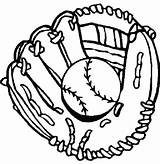 Baseball Coloring Glove Gloves Drawing Sheets Clipart Mitt Drawings Printable Cliparts Boys Clip Bat Template Mewarnai Softball Clipartbest Signs Stuff sketch template