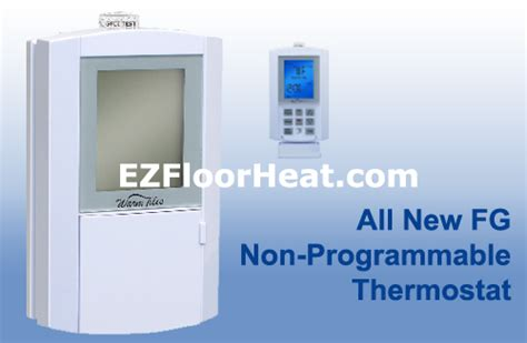 Warm Tiles Thermostat by Fg Dual Voltage 120 240 Vac Non Programmable Thermostat