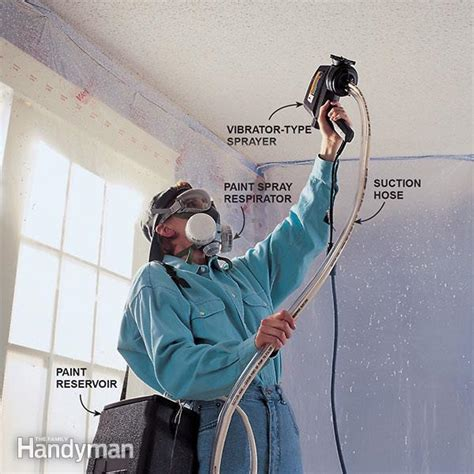 paint sprayer for popcorn ceiling how to paint popcorn ceilings the family handyman