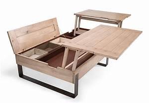 Table Basse Tendance : table basse rivoli rehausse ouverte min meubles duquesnoy ~ Teatrodelosmanantiales.com Idées de Décoration