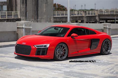 Red Audi R8 V10 Adv10 Track Spec Cs Series Wheels Adv1