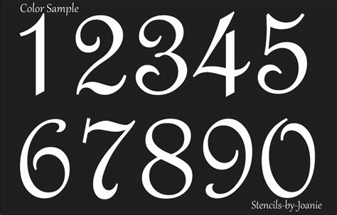 stencil paris french script numbers bride lake house
