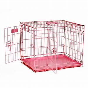 precision pink provalu2 crate 2000 two door dog crates With two room dog crate