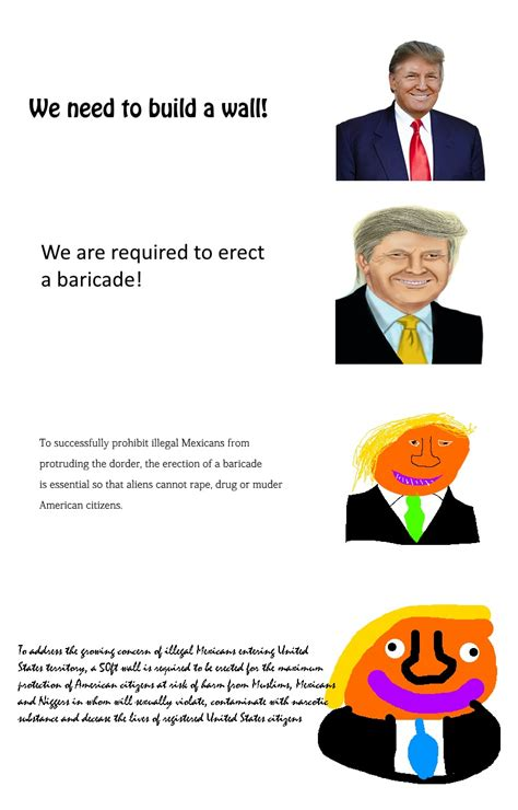 Verbose Memes - we need to build a wall increasingly verbose memes know your meme