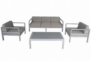 Salon Aluminium De Jardin : salon de jardin alu canap 3 p 2 fauteuils avec ~ Edinachiropracticcenter.com Idées de Décoration