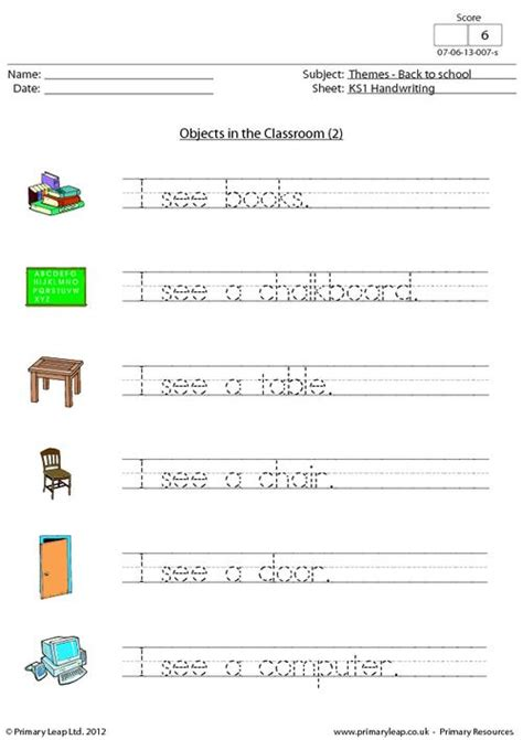 handwriting objects in the classroom 2 primaryleap co uk