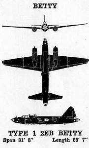 The Pacific War Online Encyclopedia  G4m  U0026quot Betty U0026quot   Japanese Medium Bomber