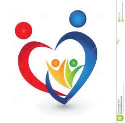 Family Heart Shape Logo