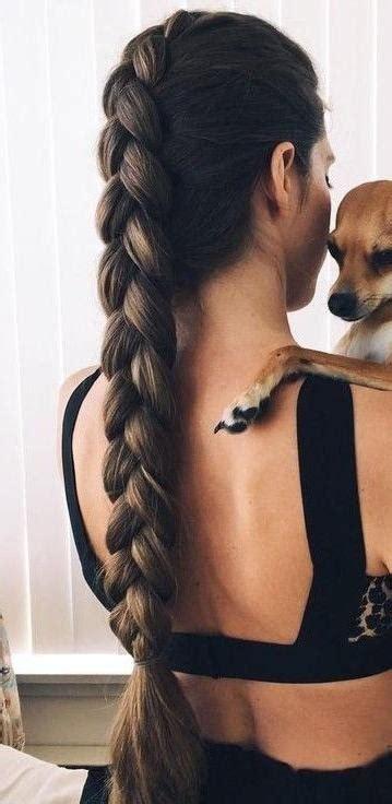 photo  braids  long thick hair