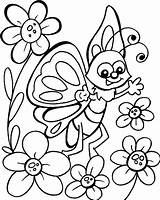 Butterfly Coloring Pages Cartoon Getdrawings sketch template