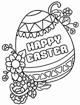 Easter Coloring Printable Egg Decorated sketch template