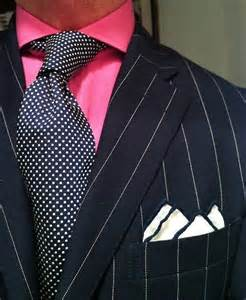 Blue Pinstripe Suit with Red Tie