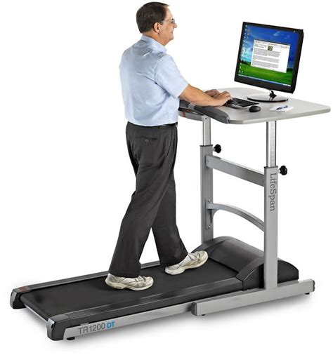 adjustable desk height lifespan fitness walking treadmill desk w height
