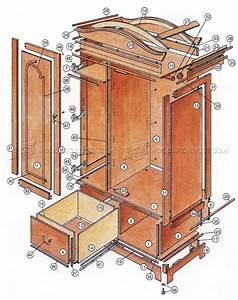Classic Armoire Plans • WoodArchivist