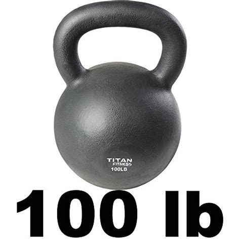 kettlebell lb weight iron workout swing cast fitness titan solid natural