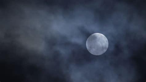 Full Moon Night Sky Moon Time Lapse Moon Light Clouds