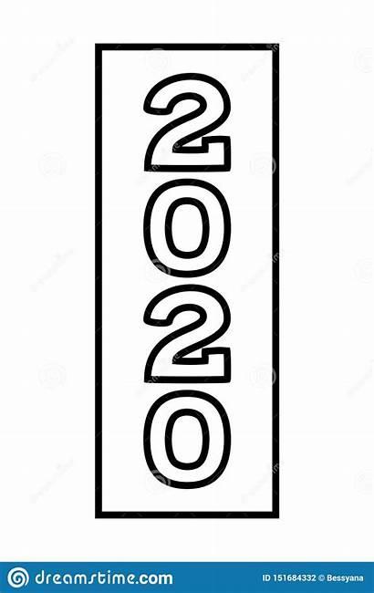 Vertical Line Number Symbol Holiday Vector Illustration