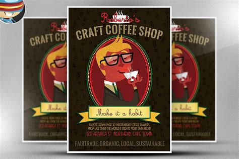 craft coffee flyer template flyer templates creative