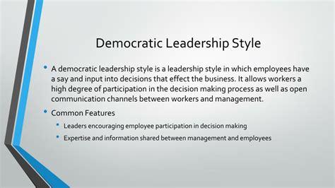 leadership styles autocratic democratic laissez