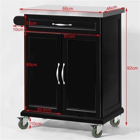 SoBuy® Wood Kitchen Cabinet,Kitchen Cart Trolley with