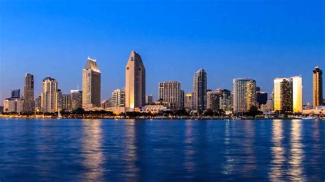 Downtown San Diego Sunset Time Lapse Youtube