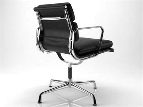 eames soft pad side chair 3d model herman miller