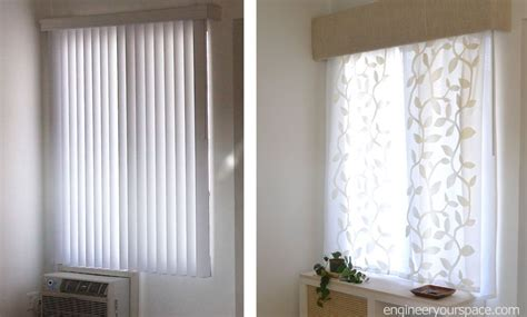 hometalk how to replace vertical blinds with curtains in