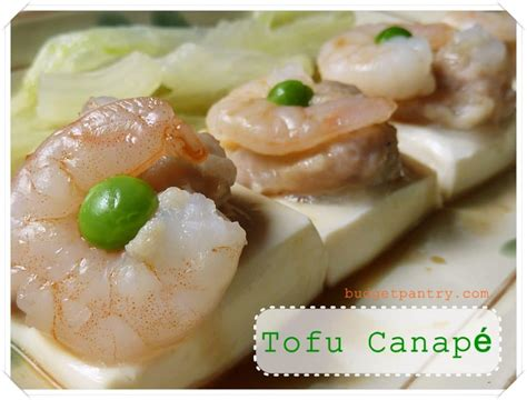 what does canape tofu canapé steamed tofu parcels with pork and prawns