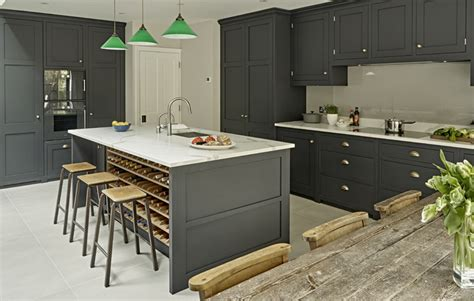 Interiors Home - dark grey kitchen design battersea brayer design kitchens