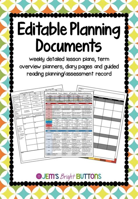 editable lesson plan editable lesson planning documents term overview weekly lesson plans and more popular